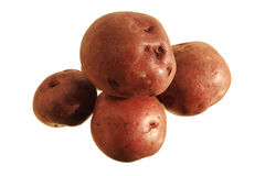Isolated red potatoes Royalty Free Stock Images