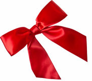 Isolated Red Ribbon bow Royalty Free Stock Photo