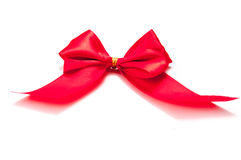 Isolated red ribbon Stock Images