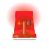 Isolated red siren Royalty Free Stock Photo