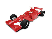 Isolated red speed car front view. Sport speed car on white background Stock Images