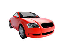 Isolated red sportcar Stock Photo
