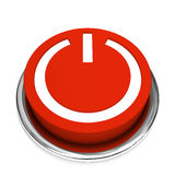 Isolated red start button. Isolated red start power  button Stock Images