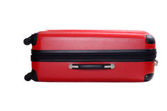 Isolated red suitcase Royalty Free Stock Photos