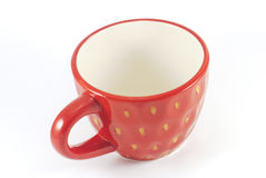 Isolated red tea cup. On a white background Stock Photography
