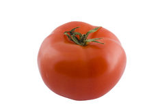 Isolated red tomato. On white background Stock Photo