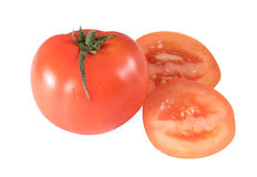 isolated red tomato Stock Images