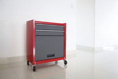 Isolated red toolbox Royalty Free Stock Images