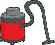 Isolated Red Wet-Dry Vacuum Royalty Free Stock Photos