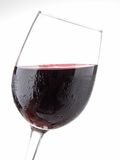Isolated red wineglass. On white Royalty Free Stock Photo