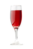 Isolated red wineglass Stock Photography
