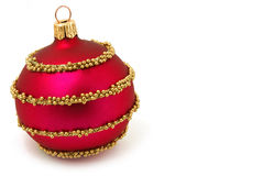 Isolated red Xmas sphere Stock Image