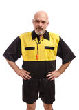 Isolated referee Stock Photo