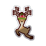 Isolated reindeer of Christmas   Royalty Free Stock Photo