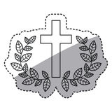Isolated religion cross and wreath design Royalty Free Stock Photo