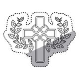 Isolated religion cross and wreath design Stock Images