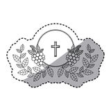 Isolated religion cross and wreath design Royalty Free Stock Image