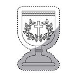 Isolated religion cup and wreath design Stock Photo