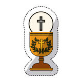 Isolated religion cup and wreath design Stock Image
