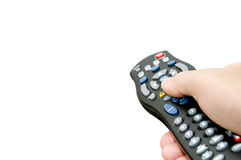 Isolated remote control with copy space Royalty Free Stock Photo