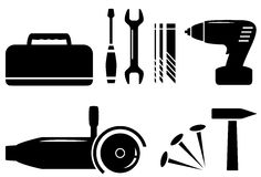 Isolated repair tools set Royalty Free Stock Photography