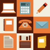 Isolated retro icon Stock Photo