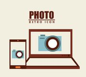 Isolated retro icon Stock Images