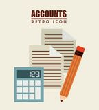 Isolated retro icon Royalty Free Stock Images