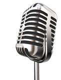 Isolated Retro Microphone. Royalty Free Stock Images