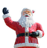 Isolated retro Santa Claus statue. Royalty Free Stock Images