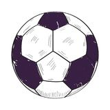 Retro soccer ball Royalty Free Stock Photo