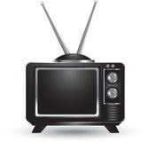 Isolated retro television Royalty Free Stock Image