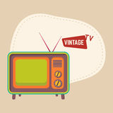 Isolated retro television concept. Stock Images