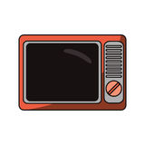 Isolated retro tv design Royalty Free Stock Photos