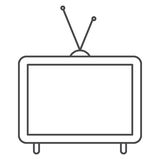 Isolated retro tv design Royalty Free Stock Photography