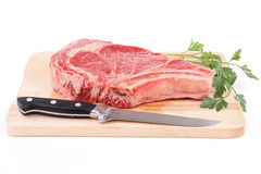 Isolated rib beef Royalty Free Stock Image
