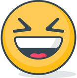 Isolated ridicule emoticon. Isolated emoticon. Stock Photos