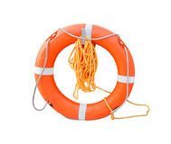 An isolated ring-buoy on a white background Royalty Free Stock Photos