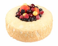 Isolated ring cake filled with fruits Royalty Free Stock Images