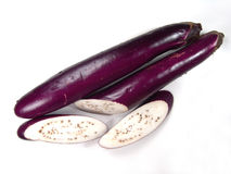 Isolated Ripe Asian Eggplant Royalty Free Stock Photos