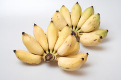 Isolated ripe cultivated banana on white background Royalty Free Stock Photo