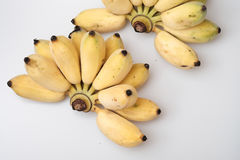 Isolated ripe cultivated banana on white background Royalty Free Stock Photos