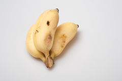 Isolated ripe cultivated banana on white background Stock Photography