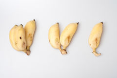 Isolated ripe cultivated banana on white background Royalty Free Stock Image