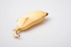 Isolated ripe cultivated banana on white background Stock Image