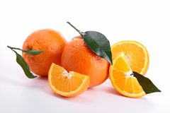 Isolated ripe orange Royalty Free Stock Photo