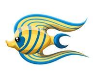 Isolated river fish of freshwater aquarium cartoon fishes. varieties of ornamental popular color fish. Flat design fish. Vector il vector illustration