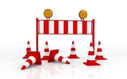 Isolated Roadblock Stock Image