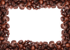 Roasted coffee bean in white background Royalty Free Stock Photography