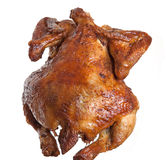 Isolated roasted  hen Royalty Free Stock Photo